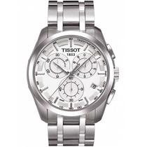 Relógio Tissot Couturier Branco Pulseira De Aço 12 X Sem Jur