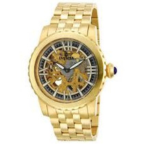 Relogio Invicta Mecanico Specialty 18k Gold Ion-plated 14552
