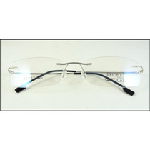 Armação Óculos De Grau Prata Sem Aro Feita De Titanium A438
