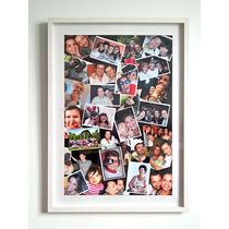 Quadro Multi-fotos Família Porta Retrato Tipo Caixa - Painel