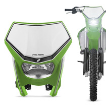 Farol Carenagem Universal Off Road Pro Tork Verde Motocross