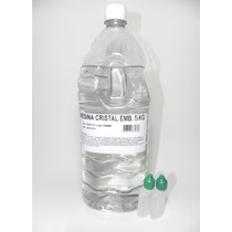 Resina Cristal Poliéster 5kg+ Catalisador - Molde Artesanato