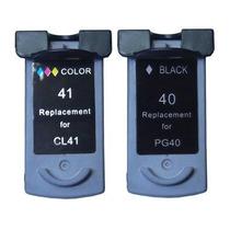 Kit 2 Cartucho Pg 40 + 41 Ip1200 Ip1800 Mp160 P450