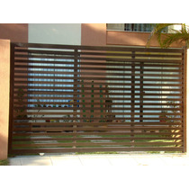 Portão Alumínio Garagem Deslizante 2,10 X 2,50
