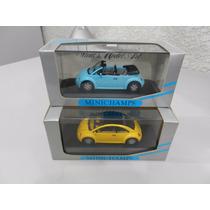 Volkswagen New Beatle - Amarelo - Azul - 1/43 - Minichamps