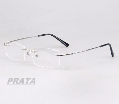 Armação Em Titânio Memory P  Óculos De Grau Haste Flexível - R  50 ... 01ff1ae559