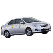 Jgo Friso Cromado Resinado Base Janelas Toyota Corolla 09/