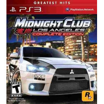 Midnight Club Los Angeles -complete Edition- Jogo Ps3 (leia)