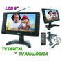 Tela Powerpack 9  Fm Usb Sd Tv Analogica E Digital + Bateria