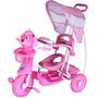 Triciclo Infantil Carrinho Bebê Rosa C/toldo Proteção Belfix