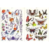 Kit Com 100 Tatuagem Temporária Motiv Borboleta Frete Grátis