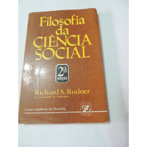 Livro Filosofia Da Ciencia Social Richard S Rudner Zahar Ed