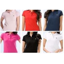 Blusa Camisa Polo Feminina Kit 10 Peças Varias Cores
