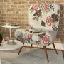 Poltrona Decorativa Tathy Pés Palito Sala Cadeira Recepção