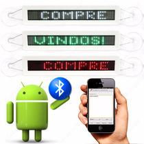 Letreiro Digital Led Bluetooth 32x5cm Android Automotivo 12v