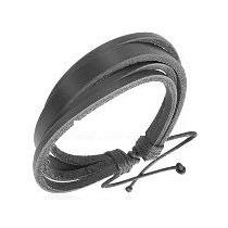 Pulseira / Bracelete Em Couro Masculina