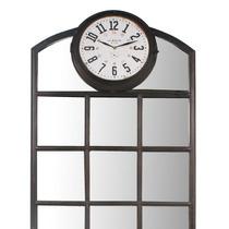Espelho Quadrados Com Relógio Oldway