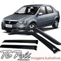 Calha Defletor De Chuva Renault Logan 07/12 4 Portas Tg Poli