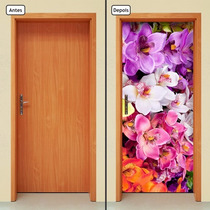 Adesivo Decorativo De Porta - Orquídea - Flores - 247mlpt