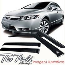 Calha Defletor De Chuva Honda New Civic 07/11 4 Port Tg Poli