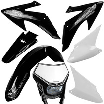 Kit Plástico Crf Pro Tork Com Farol Universal