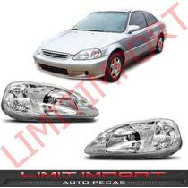 Par Farol Honda Civic Ano 1999 2000