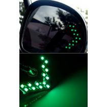 Pisca Seta Espelho Retrovisor 14 Smd Led Verde