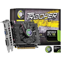Placa De Vídeo Point Of View Gtx750 1gb Gddr5 128 Bits