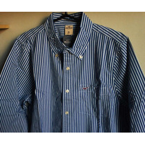 Camisa Social Holister Masculina Em Listras / Tm Gg