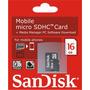 Cartão Memória Micro Sd 16gb Classe Microsd 16g Smartphone