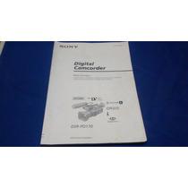 Manual Em Francês Sony Digital Camcorder Dsr-pd170
