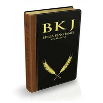 Bíblia Bkj Marrom/preta Frete Gratis