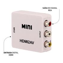 Mini Conversor Hdmi Para Vídeo Composto (rca) - Hdmi2av