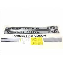 Decalque Faixa Adesiva Trator Massey Ferguson 265 Antigo