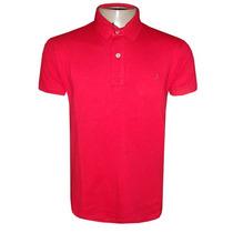 Camisa Polo Ricardo Almeida Vermelha Lisa Pima