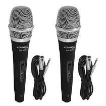 Kit 2 Microfones Profissionais + Cabos Tipo Shure Sm57 Sm58