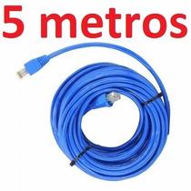 Cabo Rede Cat6 Azul 5m Metros Net Lan Utp Pronto Usar Uso