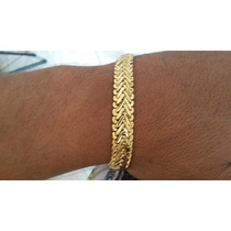 Pulseira Elegante Masc Banhada Em Ouro 18k- Frete Grátis