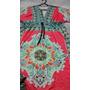 Lindo Vestido Estampa Retro 1960/70 Estilo Kimono, Excelente