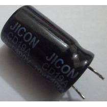 Capacitor Eletrolítico 10uf 400v Emb. C/ 5 Pçs. - R$ 6,90