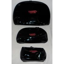 Necessaire Chanel Feminina De Grife Kit 3 Unidades+ Brinde