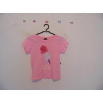 Blusa Feminina Rosa Estampada Manguinhas Cód. 147