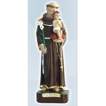 Escultura Santo Antonio Tira Menino ( Solto ) Gesso 20 Cm