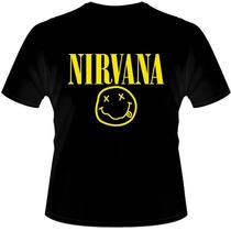 Camiseta Nirvana - Metallica Ramones Acdc Charlie Brow Jr.