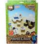 Minecraft Papercraft Snow Set Blocos De Montar Do Jogo 48pç