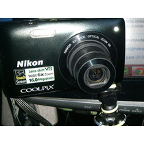 Nikon S4300 16mp Preta 8gb Zoom 6x Filma Hd (720p)