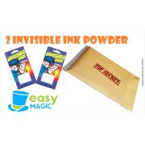 2 Invisible Ink (pó Invisivel) + Frete Grátis - Easy Magic