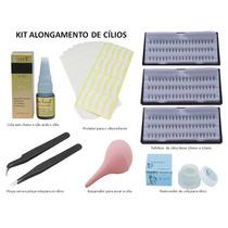 Kit Alongamento De Cílios Fio A Fio Completo