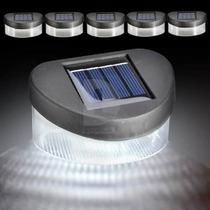 Luminária Solar Com 4 Leds Para Paredes, Muros, Escadas Etc