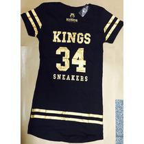 Vestido Feminino Kings 34 Anita Preto E Dourado
